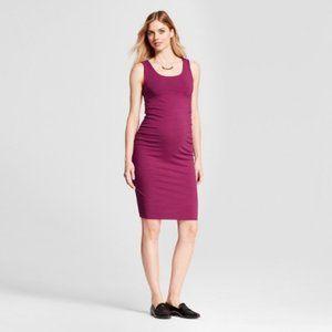 Isabel Maternity Purple Sleeveless Dress